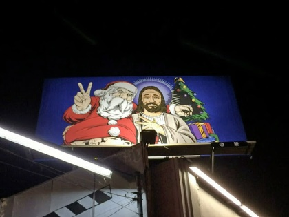 UNDEFEATED X MISTER CARTOON HOLIDAY BILLBOARD